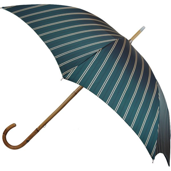 Shibumi Sen Umbrella - Dark Gren Striped - Sugar Cane