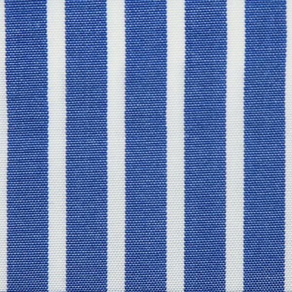 Poplin Made-To-Order Shirt - White / Blue - Banker Stripe