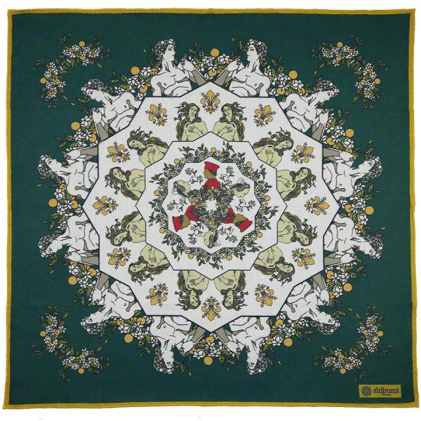 Davide Cotton Blend Neckerchief - Forest - 60x60cm