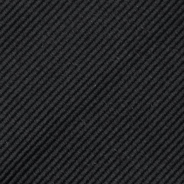 Plain Repp Bespoke Silk Tie - Black