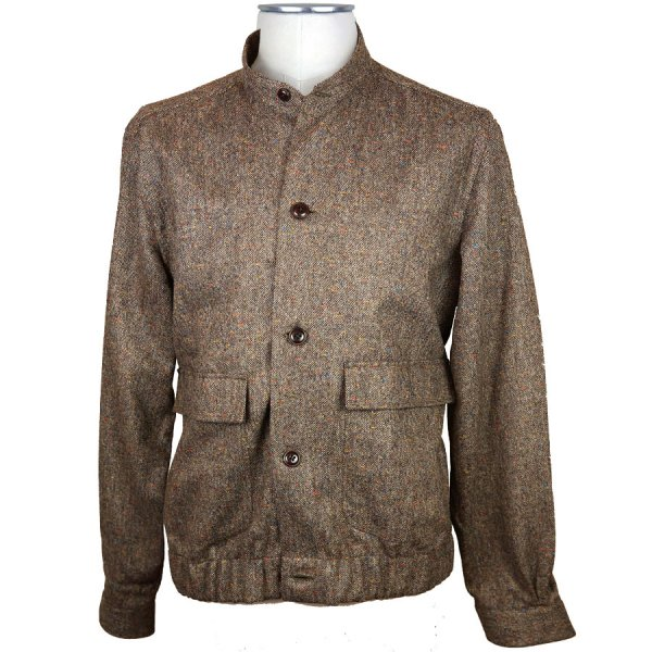 Harris Tweed Bomber Jacket - Brown Donegal - Holland & Sherry