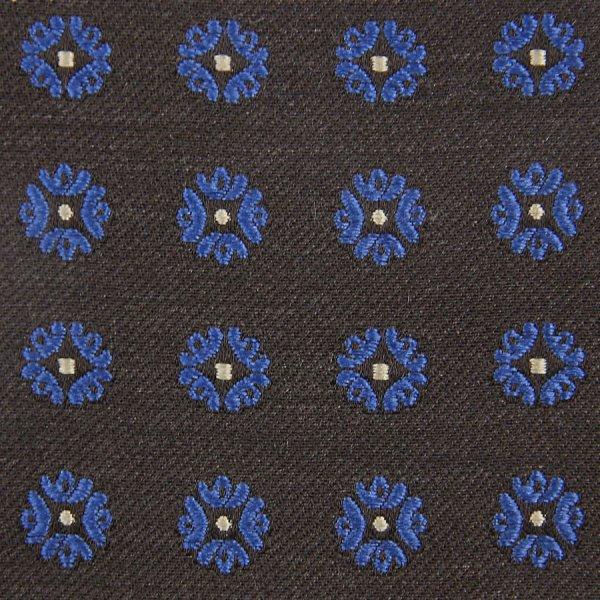 Floral Jacquard Silk Bespoke Tie - Brown