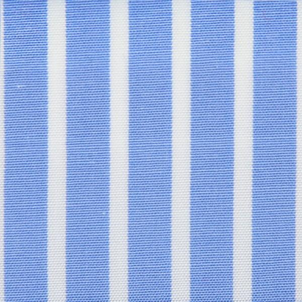 Poplin Made-To-Order Shirt - White / Light Blue - Banker Stripe
