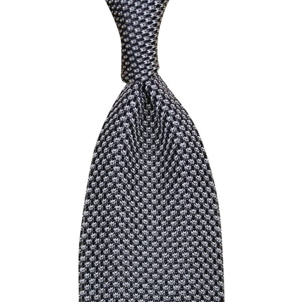 Birdseye Knit Tie - Grey - Silk