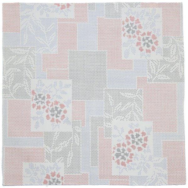Vintage Kimono Silk Pocket Square - White I
