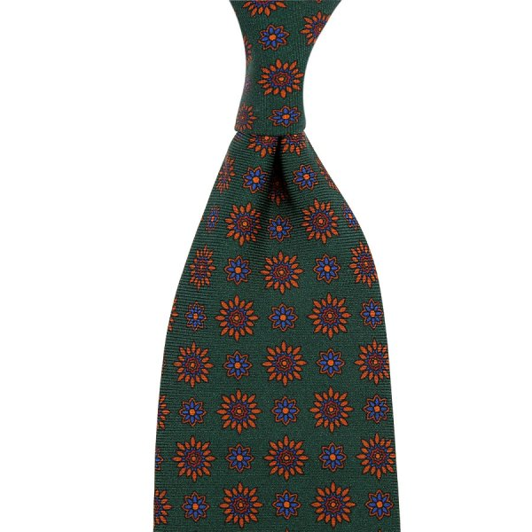 Ancient Madder Silk Tie - Forest III - Hand-Rolled