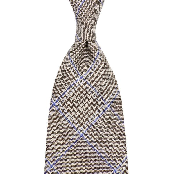 Loro Piana Checked Wool / Linen / Silk Tie - Beige