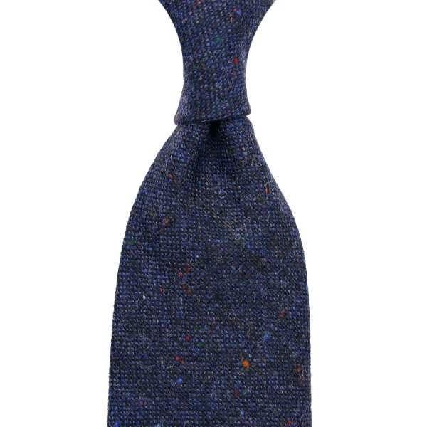 W. Bill Donegal Wool - Navy - Hand-Rolled