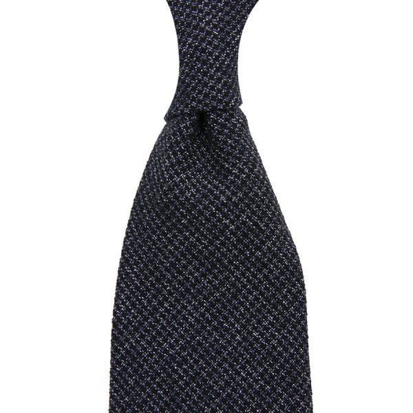 Vintage Fox Brothers Houndstooth Wool Tie - Charcoal