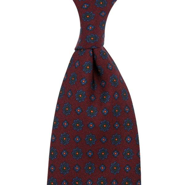 Ancient Madder Silk Tie - Burgundy III - Hand-Rolled