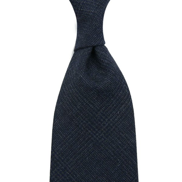 Vintage Fox Brothers Glencheck Wool Tie - Navy