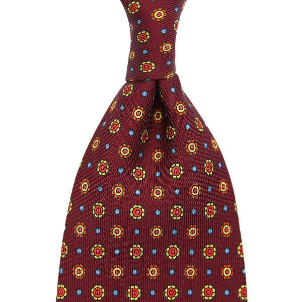 Floral Printed Silk Tie - Cherry IV - Handrolled