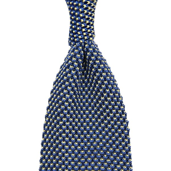 Birdseye Knit Tie - Sea Blue - Silk