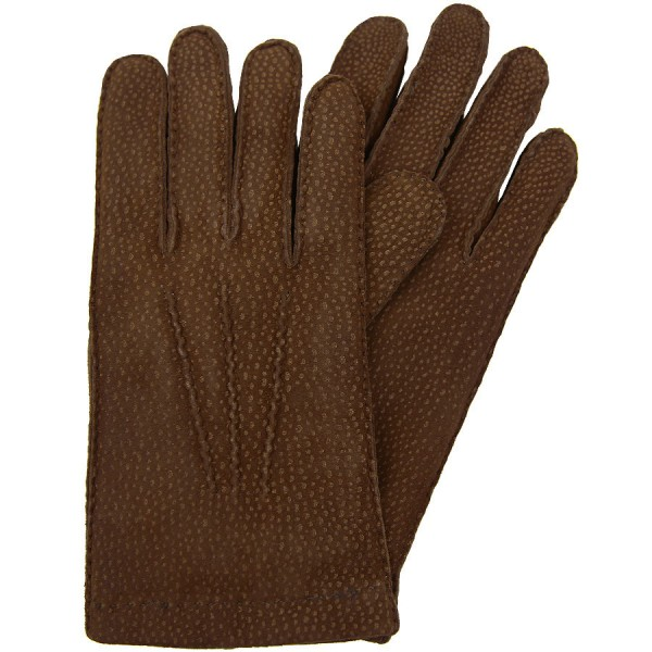 Shibumi Capybara Gloves With Rabbit Fur Lining - Brown