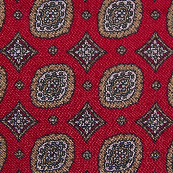 Vintage Printed Silk Bespoke Tie - Cherry