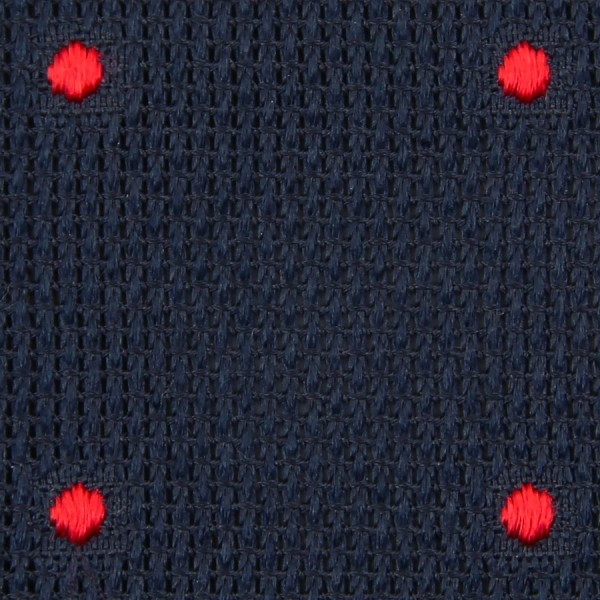 Dotted Grenadine / Garza Fina Bespoke Tie - Midnight / Cherry