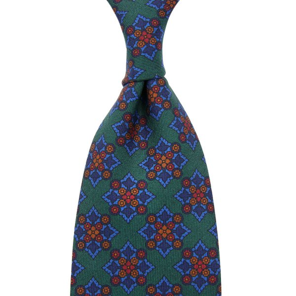 Ancient Madder Silk Tie - Forest II - Hand-Rolled