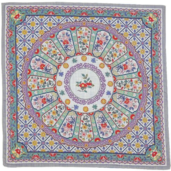 Floral Motif Cotton Handkerchief - Multicolored II