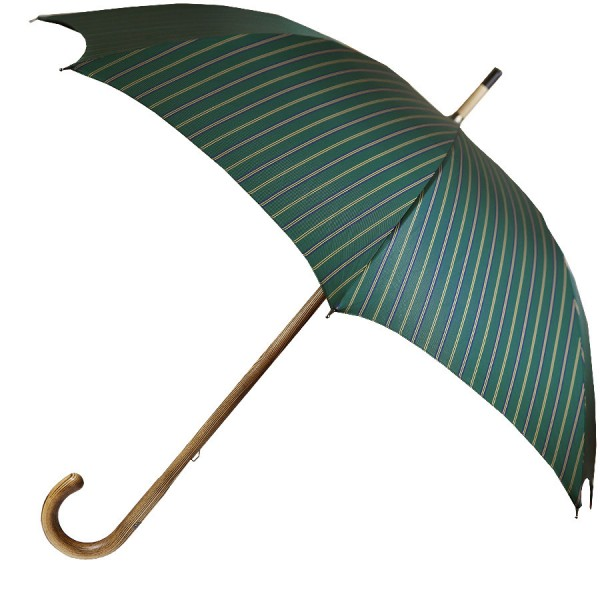 Shibumi Umbrella - Forest Green Striped - Hickory