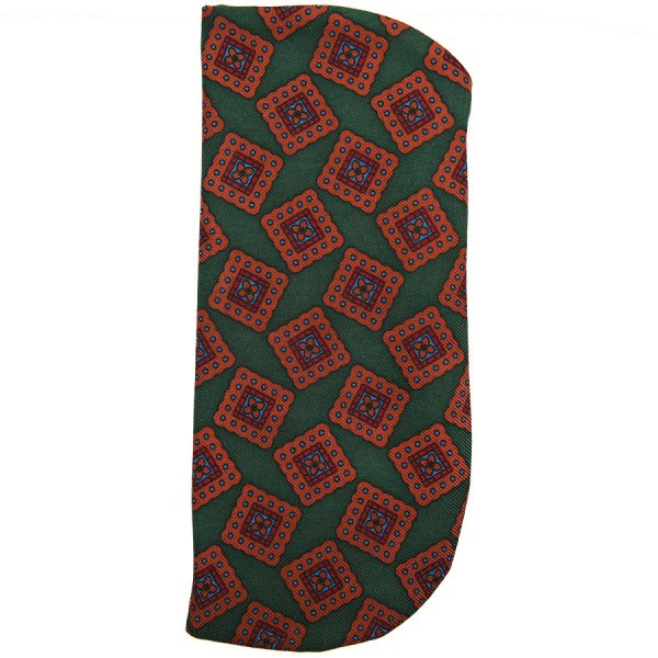 Ancient Madder Silk Glasses Case - Forest