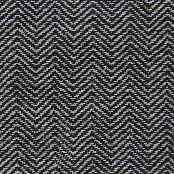 Herringbone Cashmere Bespoke Tie - Black