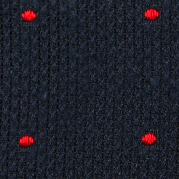 Dotted Shantung Grenadine Bespoke Tie - Navy / Red