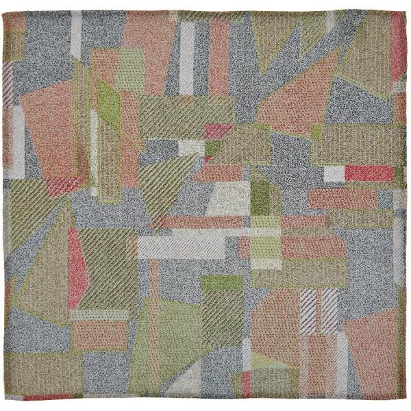 Kimono Silk Pocket Square - Geometrical - Handrolled