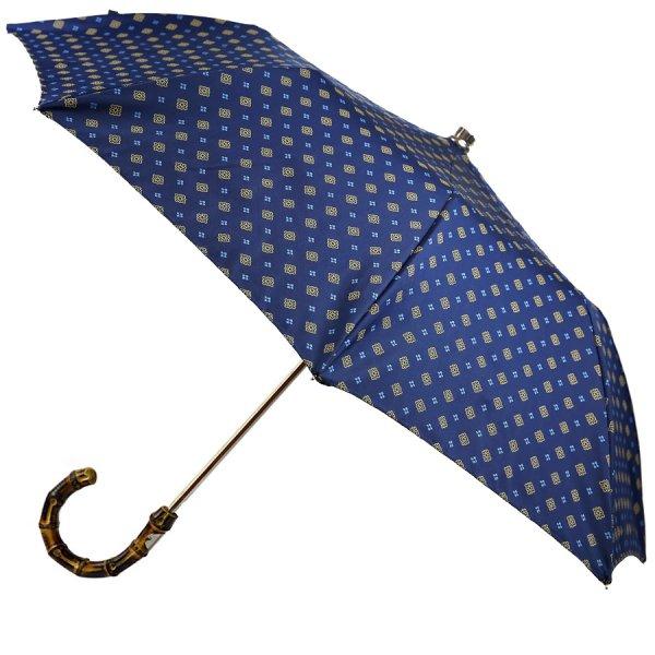Floral Navy Travel Umbrella - Bamboo