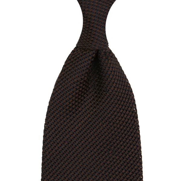 Grenadine / Garza Piccola Tie - Dark Chocolate - Silk / Wool / Cashmere