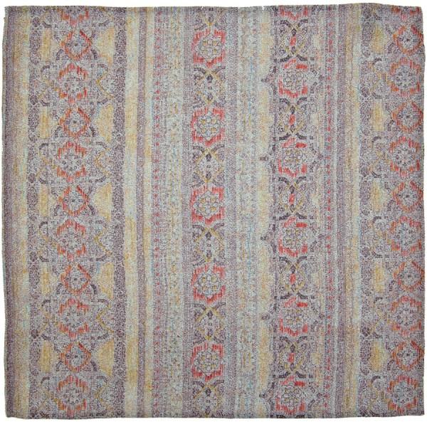 Kimono Silk Pocket Square - Flowers II - Handrolled