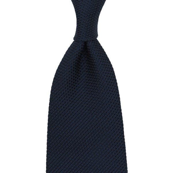 Grenadine / Garza Piccola Tie - Midnight - Hand-Rolled