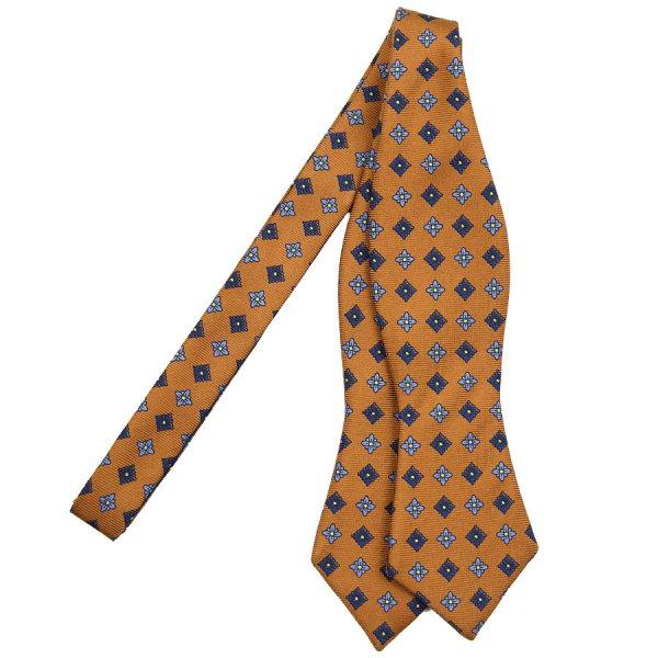 Floral Printed Silk Bow Tie - Hioney