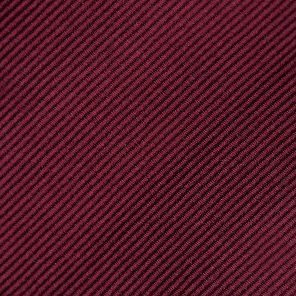 Plain Repp Bespoke Silk Tie - Burgundy