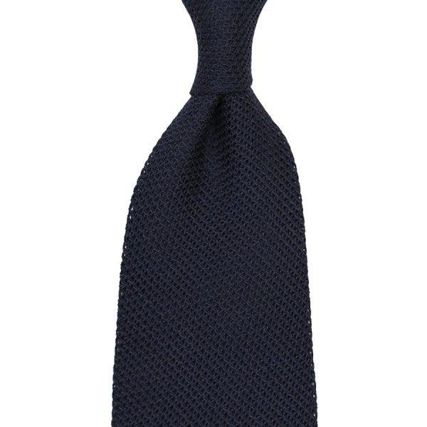 Grenadine / Garza Piccola Tie - Navy - Silk / Wool / Cashmere