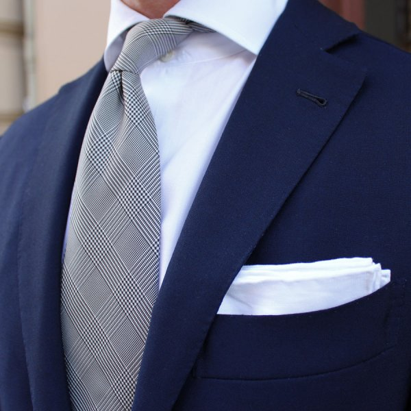 Wedding Set - Glencheck Tie / Pocket Square / Socks