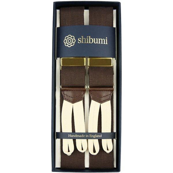 W. Bill Irish Linen Braces - Chocolate