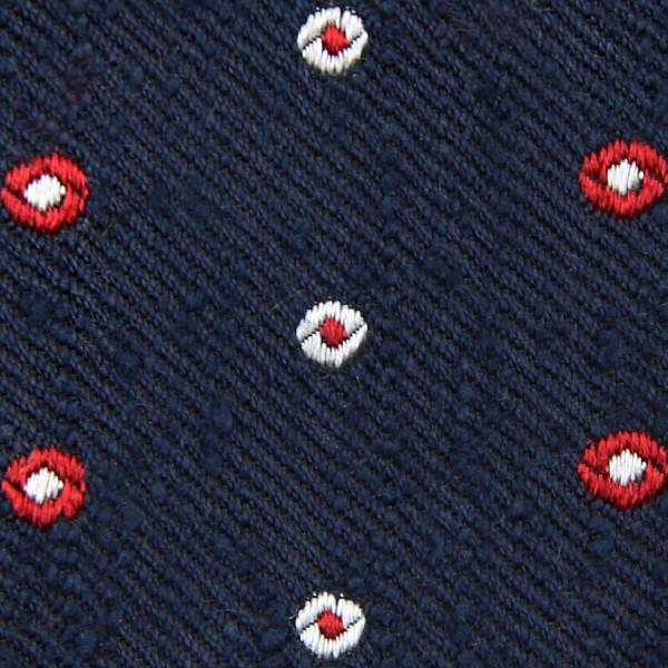 Geometrical Shantung Bespoke Tie - Navy II