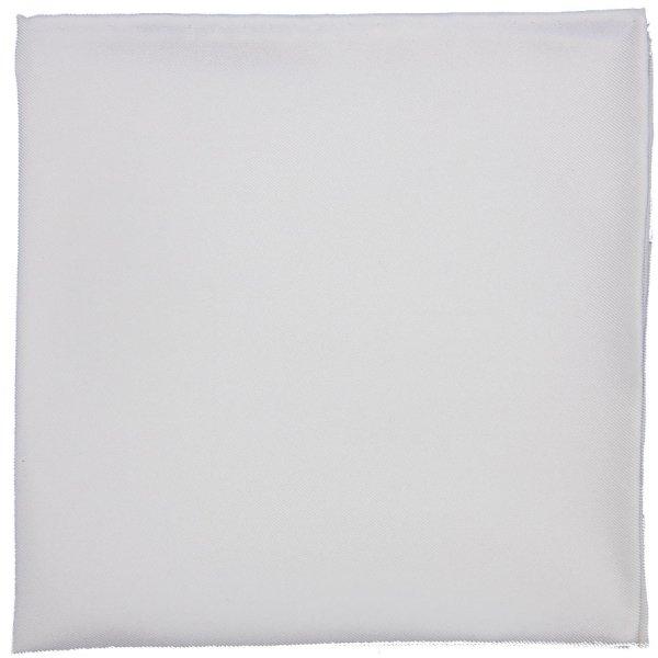 Plain Silk Pocket Square - White - Hand-Rolled
