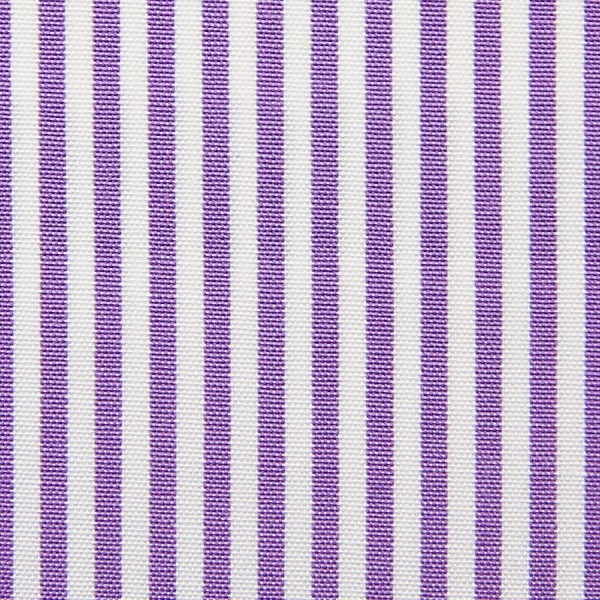 Poplin Made-To-Order Shirt - White / Purple - Pencil Stripe