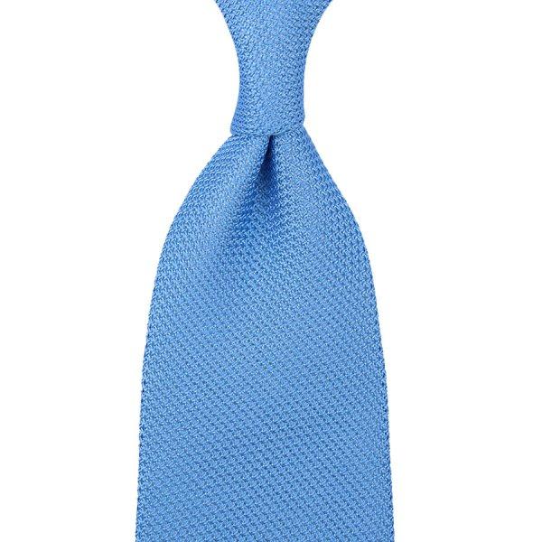 Grenadine / Garza Piccola Tie - Powder Blue - Hand-Rolled