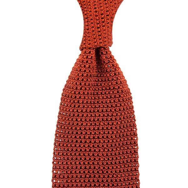 Silk Knit Tie - Rust