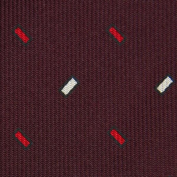 Floral Printed Silk Bespoke Silk Tie - Burgundy IV