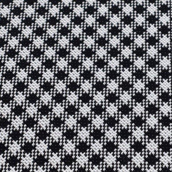Houndstooth Bespoke Silk Tie - Black / White