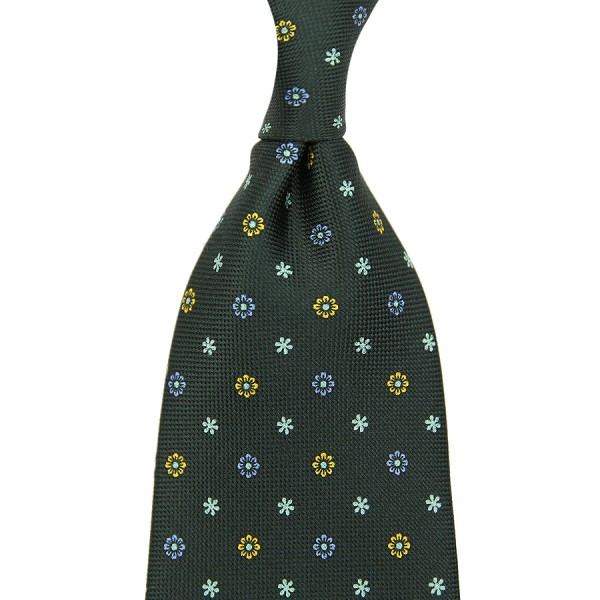 Panama Printed Silk Tie - Bottle - Handrolled