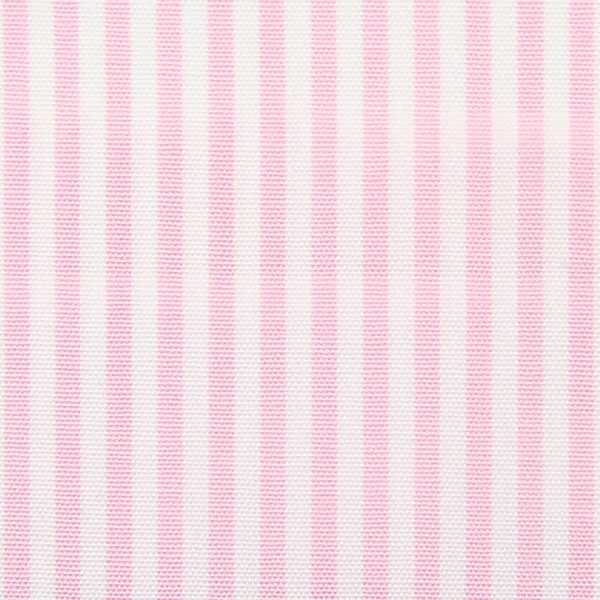 Poplin Made-To-Order Shirt - White / Pink - Pencil Stripe