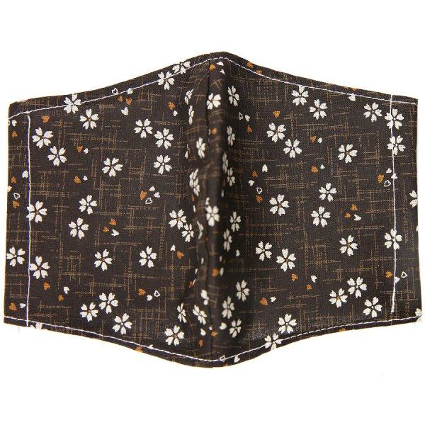 Kimono Motif Washable Cotton Mask - Brown