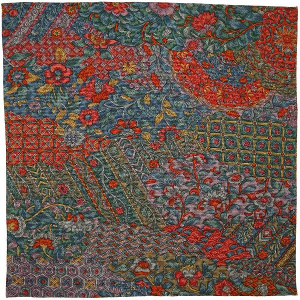 Kimono Silk Pocket Square - Forest - Handrolled