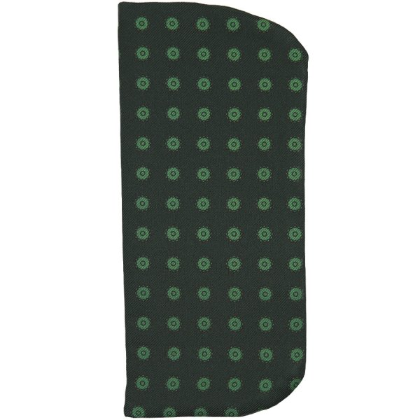 Shadow Printed Silk Glasses Case - Forest Green