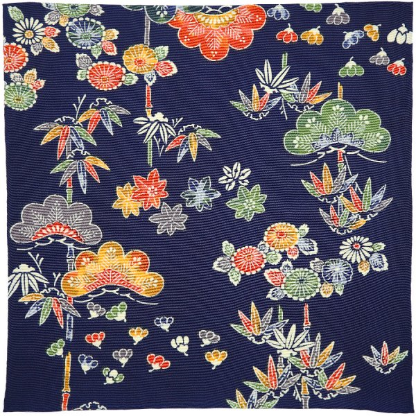 Kimono Silk Pocket Square - Summer - Handrolled