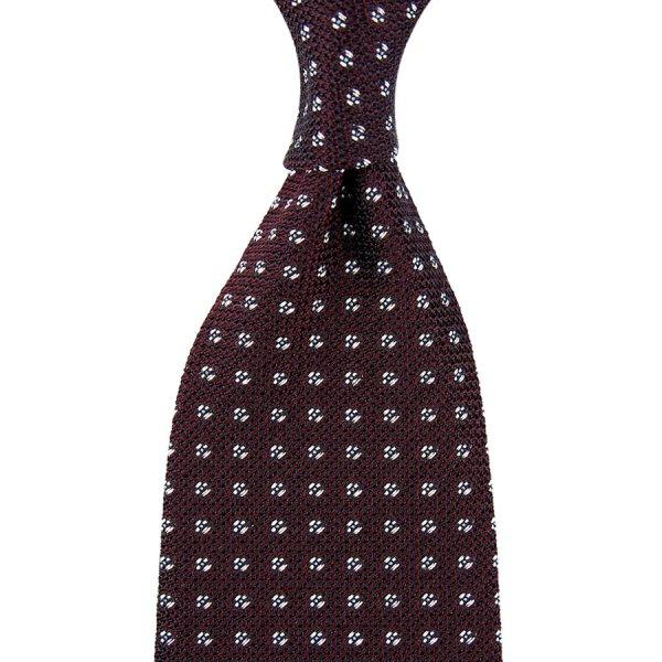 Geometrical Grenadine / Garza Fina Silk Tie - Burgundy